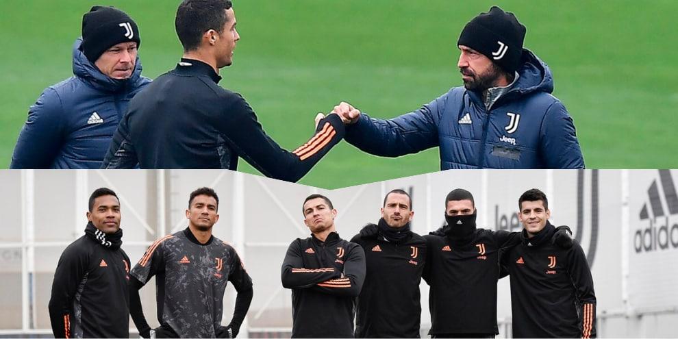 Juve, Pirlo e Ronaldo pugno d'intesa per la Champions
