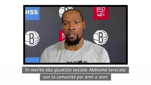 """Durant: """"Orgoglioso della NBA"""""""