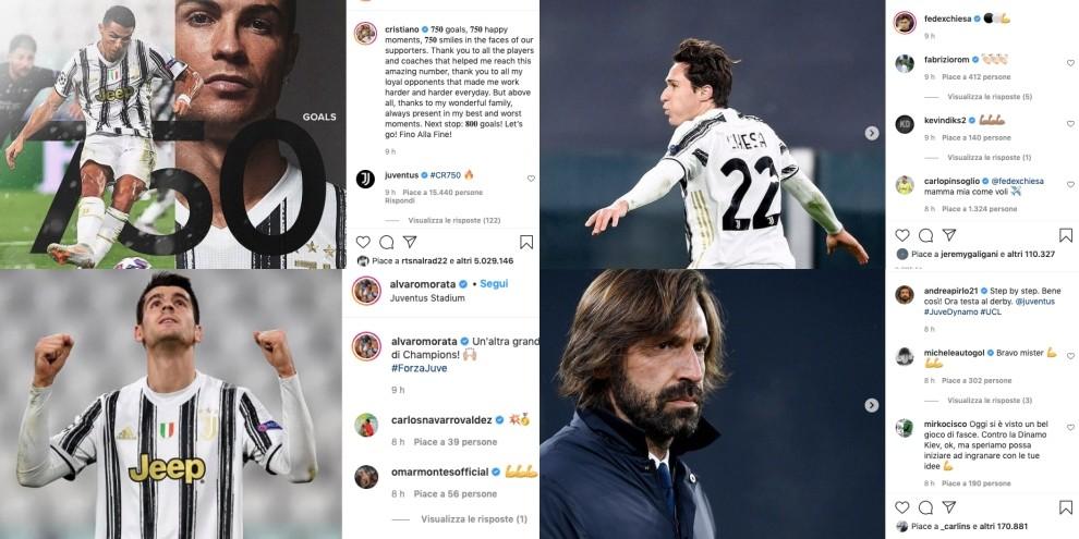 La Juventus sui social.  E Cristiano Ronaldo sta già cercando 800 gol