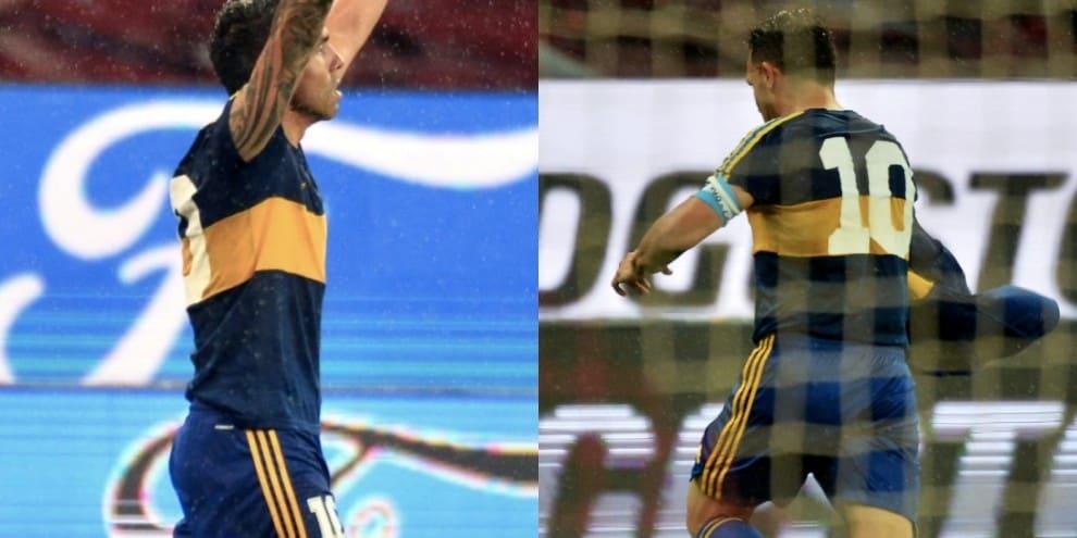 L'omaggio di Tevez: indossa la maglia che fu di Maradona