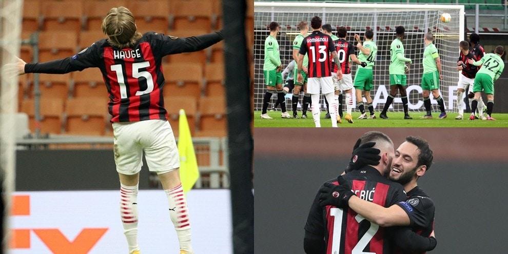 Il Milan vola in Europa League: che capolavori di Calhanoglu e Hauge!