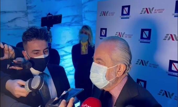"""De Laurentiis: """"Juve-Napoli? Siamo sereni, è stato presentato ricorso"""""""