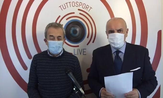 Tuttosport a casa. Dietro il Milan nessuno si arrende, vincendo il pareggio di Napoli, Inter, Juventus e Sassuolo. L'inchiesta Perugia: perché la Juventus si sente così calma.