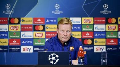 """Barcellona-Juve, Koeman: """"Vogliamo la vittoria e il primo posto nel girone"""""""