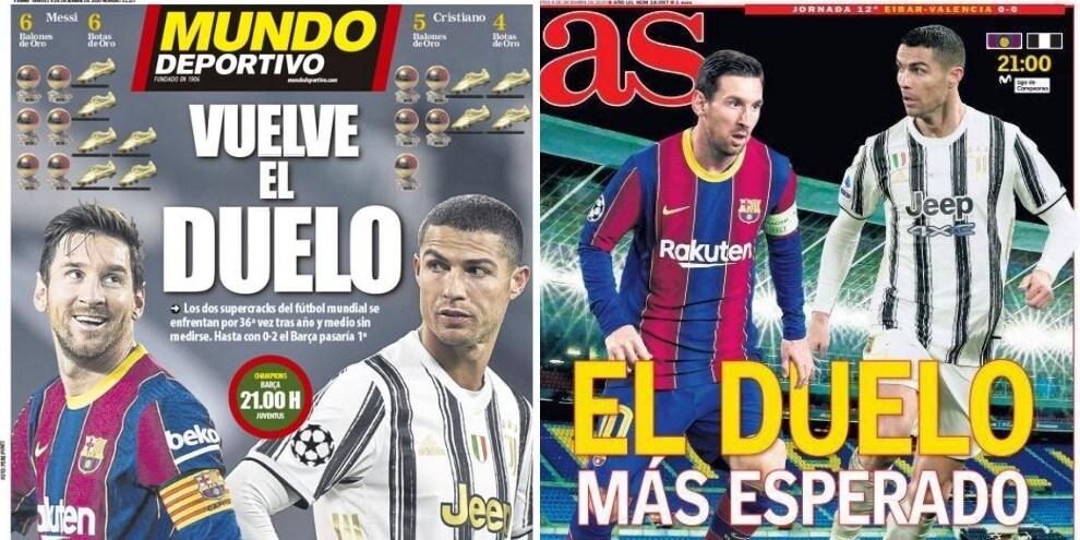 Cristiano Ronaldo-Messi, il duello di Champions infiamma la stampa spagnola