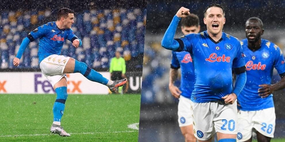 Zielinski, che gol! Napoli ai sedicesimi nell'esordio dello stadio Maradona