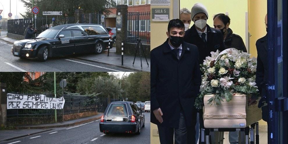 Il feretro di Paolo Rossi lascia Siena per Vicenza