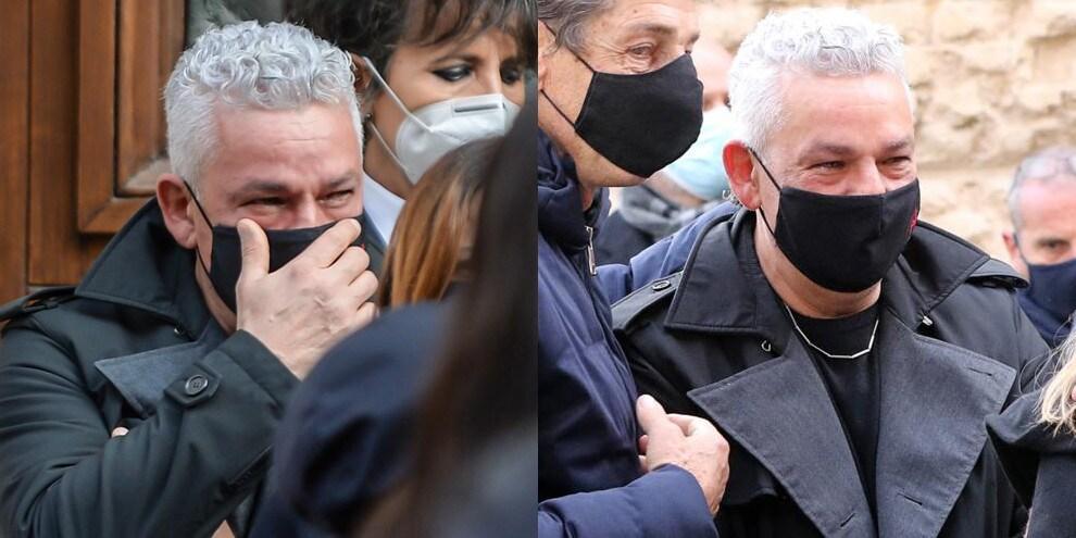 Funerali Paolo Rossi, la commozione di Roberto Baggio
