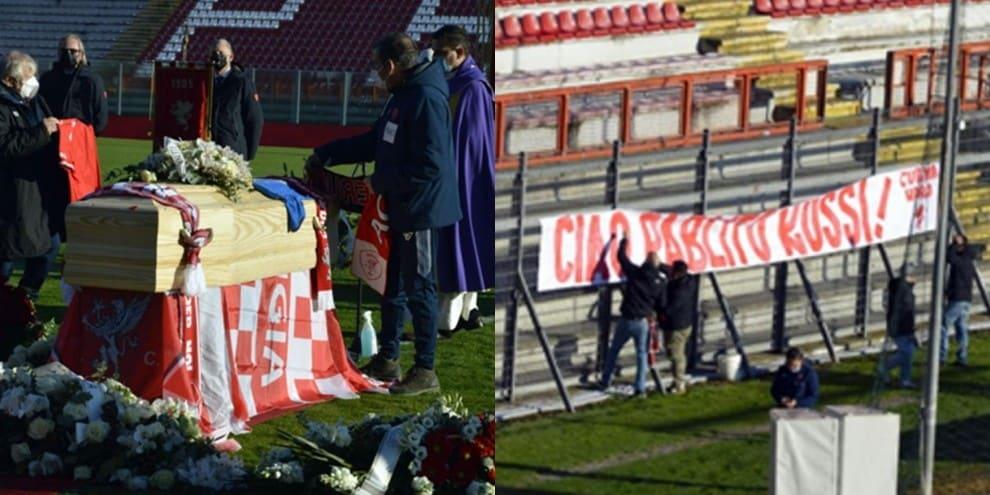 Paolo Rossi, lacrime e commozione per l'ultimo saluto al Curi