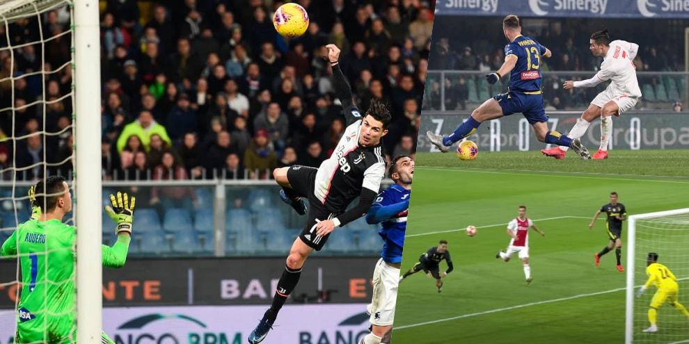 CR7, i 10 gol più belli con la Juve