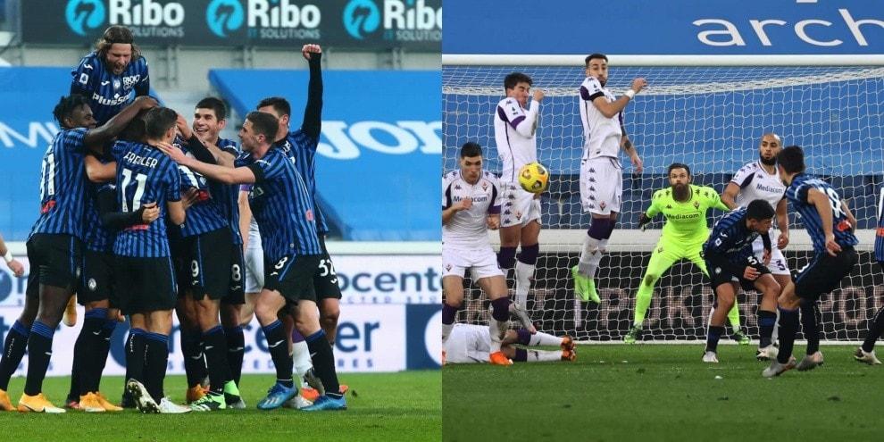 Atalanta a valanga sulla Fiorentina: 3-0 per Gasperini