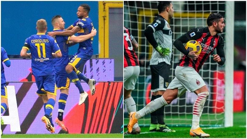 Un super Hernandez salva il Milan: 2-2 con il Parma a San Siro