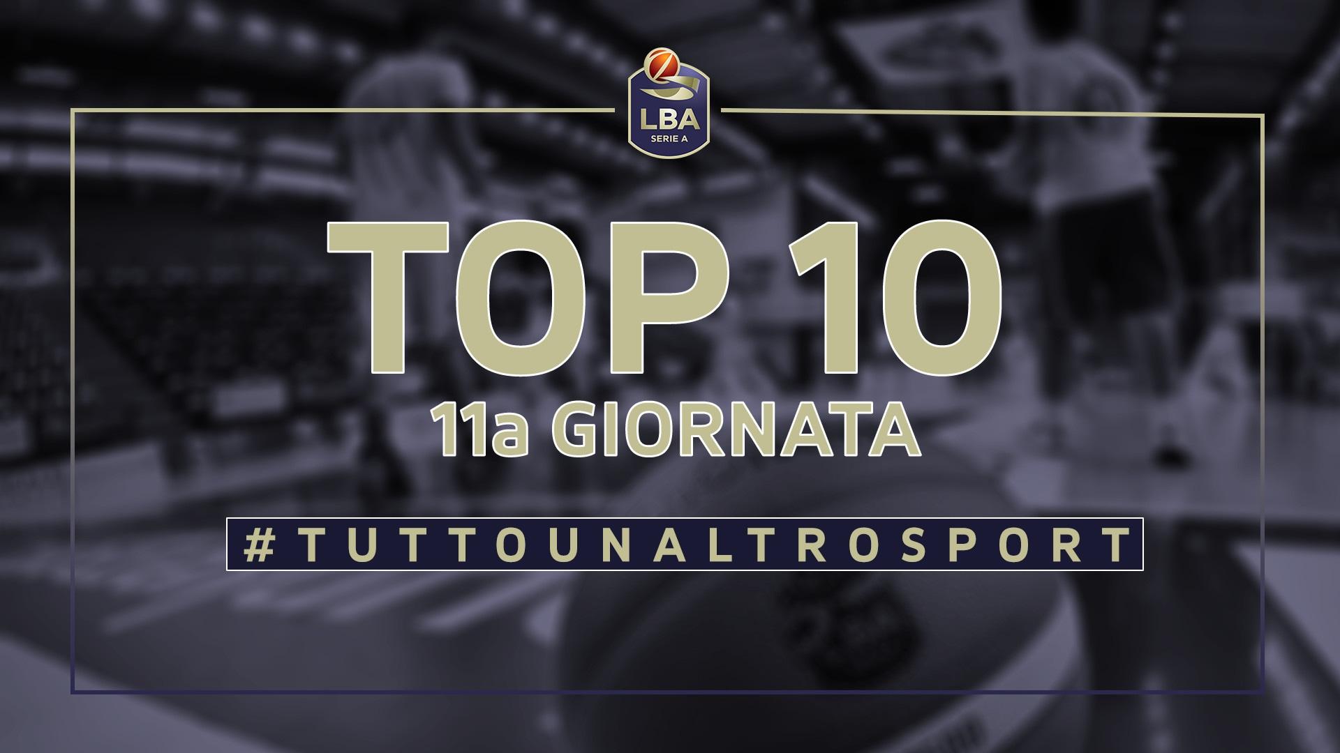 La Top Ten della 11a giornata del campionato LBA di basket