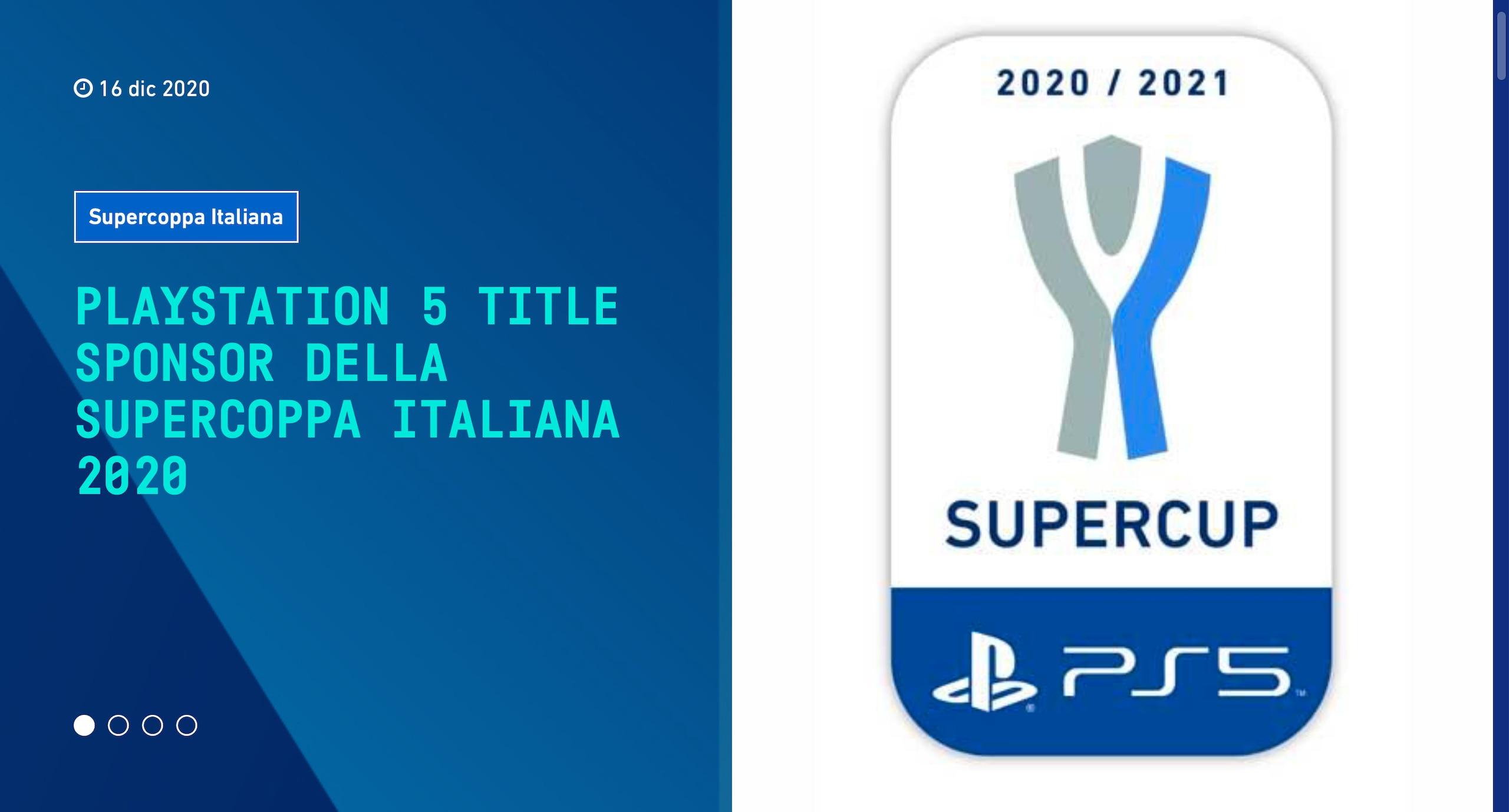 La Supercoppa Italiana cambia nome: si chiamerà PS5 Supercup