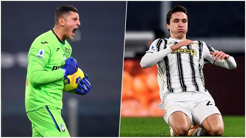 Show tra Juve e Atalanta: Gollini ipnotizza Ronaldo, super gol di Chiesa e Freuler