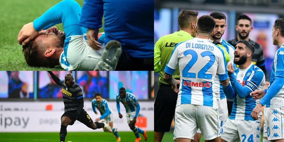Inter-Napoli decisa da Lukaku. Insigne furioso, Mertens in lacrime