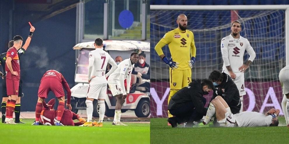 Torino ko 3-1 con la Roma, rosso a Singo dopo 14 minuti