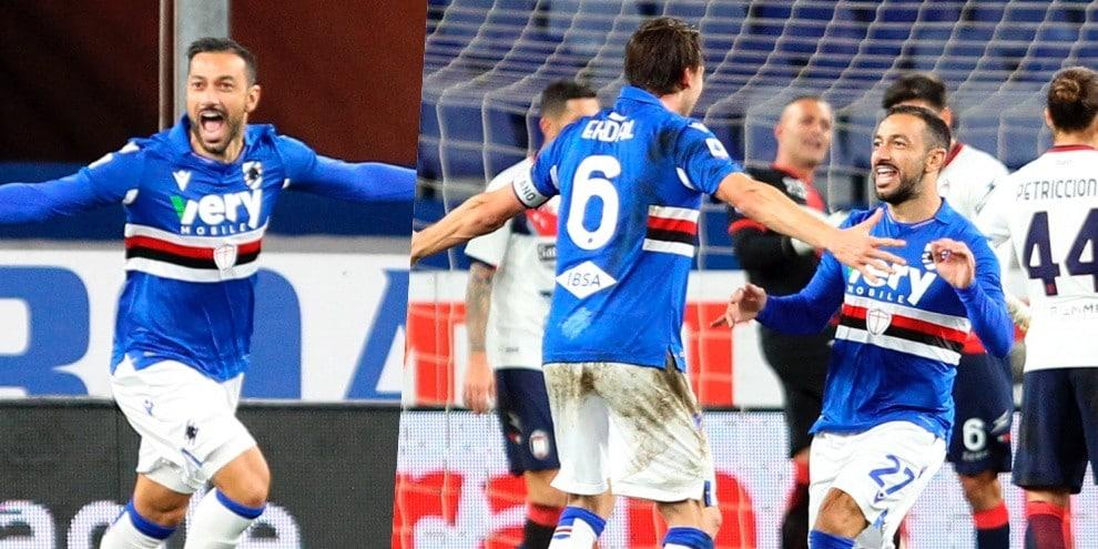 Super Quagliarella: entra e segna, Sampdoria trascinata