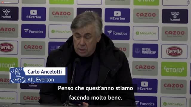 """Everton secondo, Ancelotti: """"Daremo fastidio fino alla fine"""""""