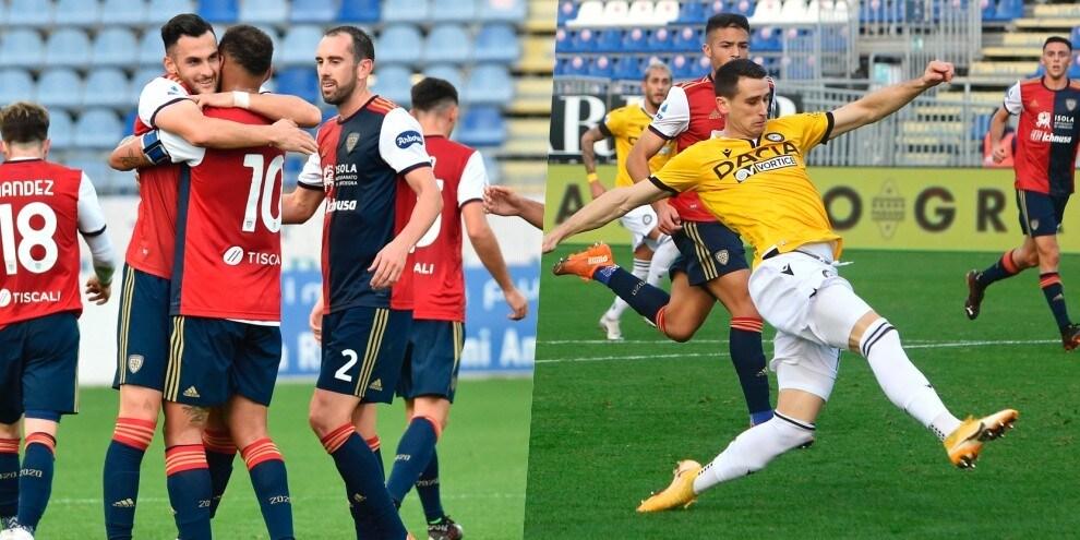 Lasagna entra, segna e risponde alla magia di Lykogiannis: Cagliari-Udinese 1-1