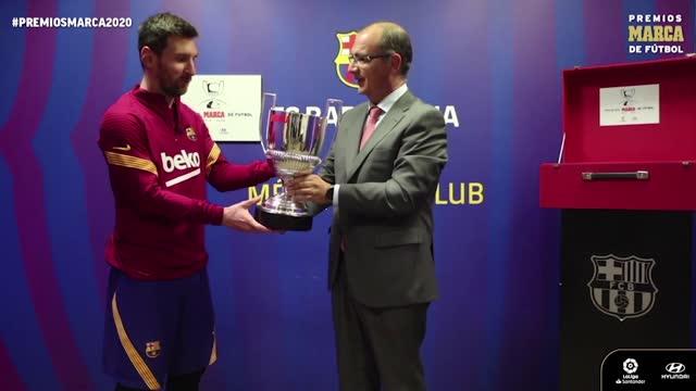 Messi Pichichi della Liga per la 7ª volta, la premiazione