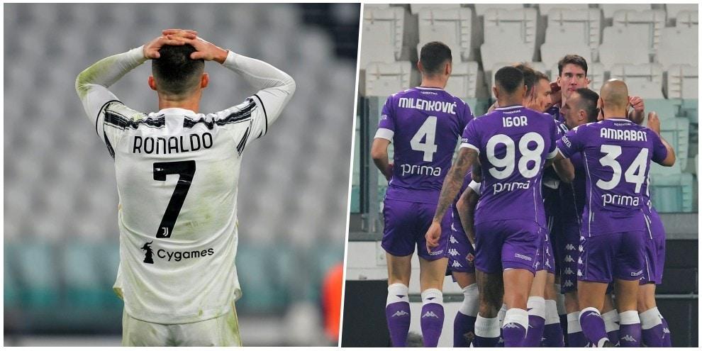 Debacle Juve con espulsione e autogol: la Fiorentina vince allo Stadium