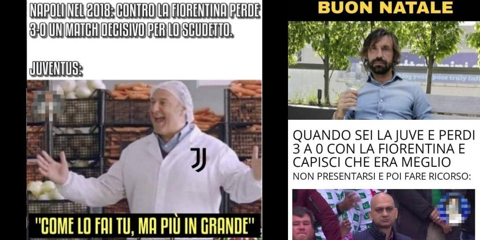 Juve-Fiorentina 0-3: meme e ironie sui social