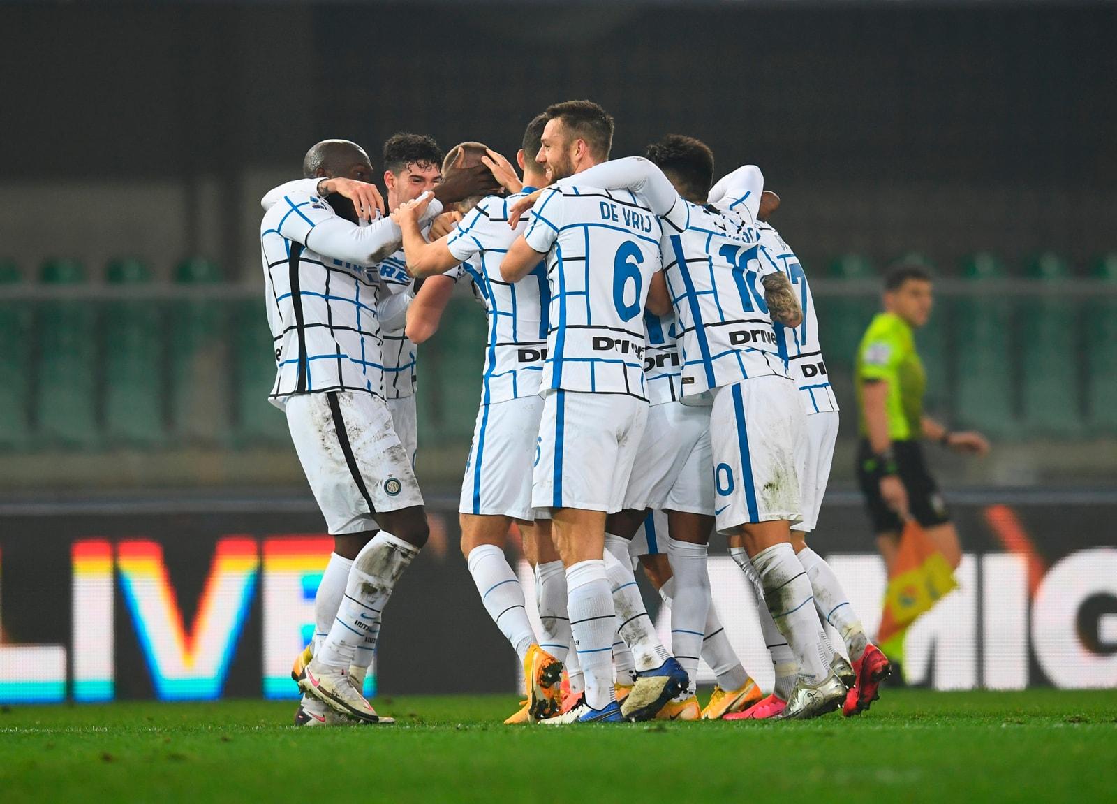 Verona-Inter 1-2: Conte infila la settima vittoria di fila