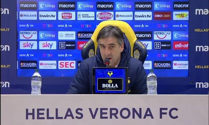 """Juric: """"Voglio che il Verona non retroceda"""""""