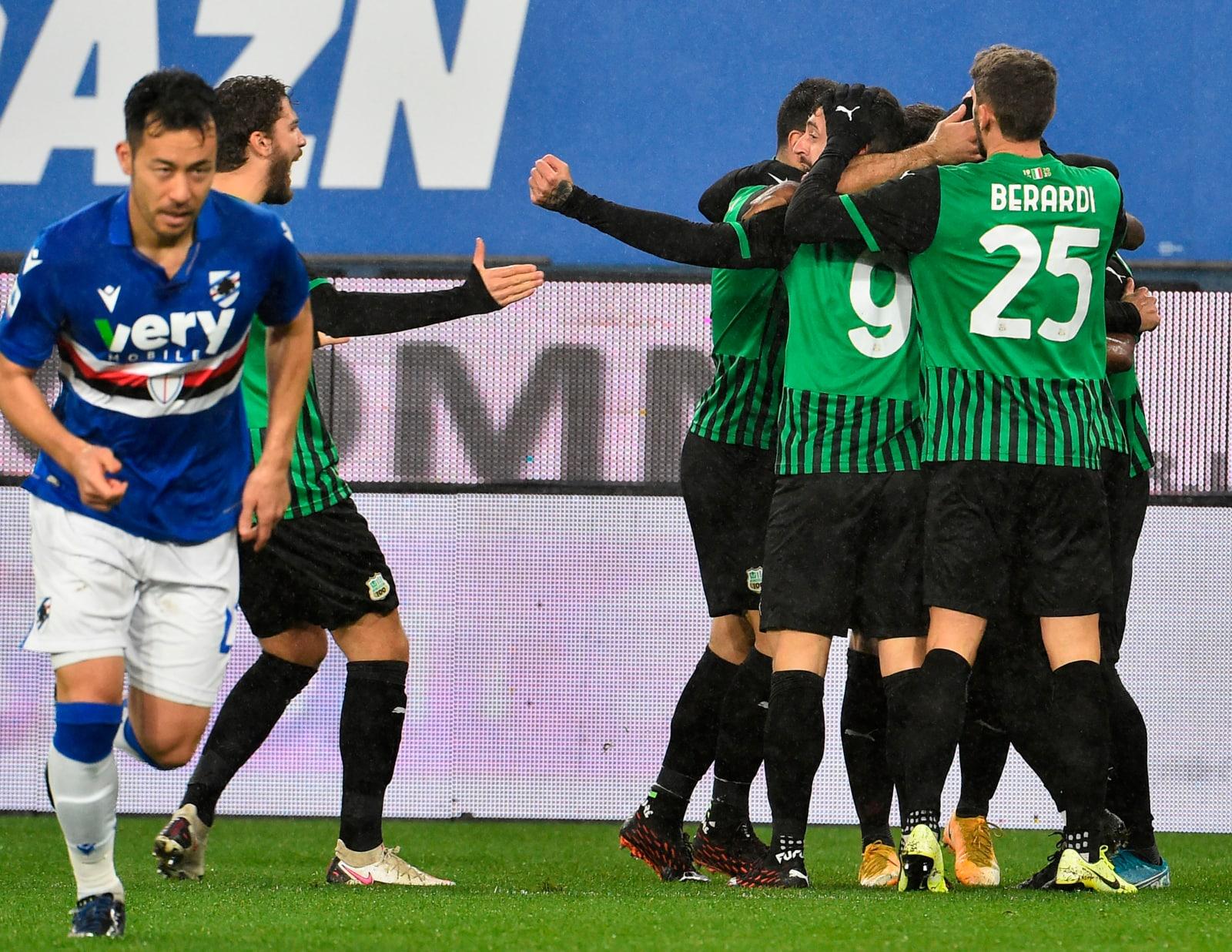 Il Sassuolo vola al quarto posto! Sampdoria ko 3-2