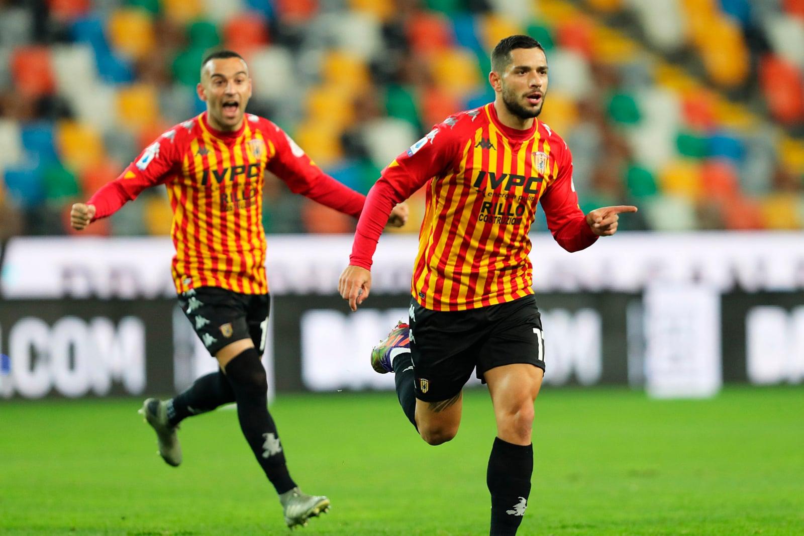 Udinese sconfitto dal Benevento: Inzaghi vola con Caprari e Letizia