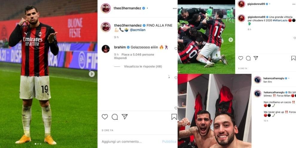 """Milan, Natale in vetta grazie a Theo Hernandez, che cita la Juve: """"Fino alla fine"""""""