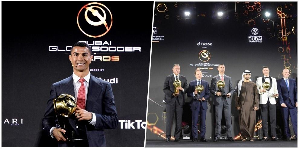 Cristiano Ronaldo miglior giocatore del secolo: la gioia della premiazione