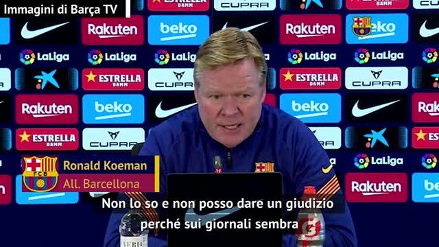 """Koeman: """"Messi al PSG con Pochettino? Non credo"""""""