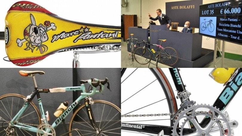 Pantani, battuta per 66 mila euro la bici con cui gareggiò al Tour de France 2000