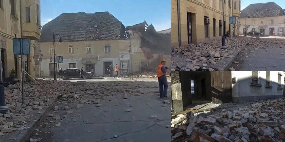 Terremoto Croazia, edifici crollati e tanta paura: le foto