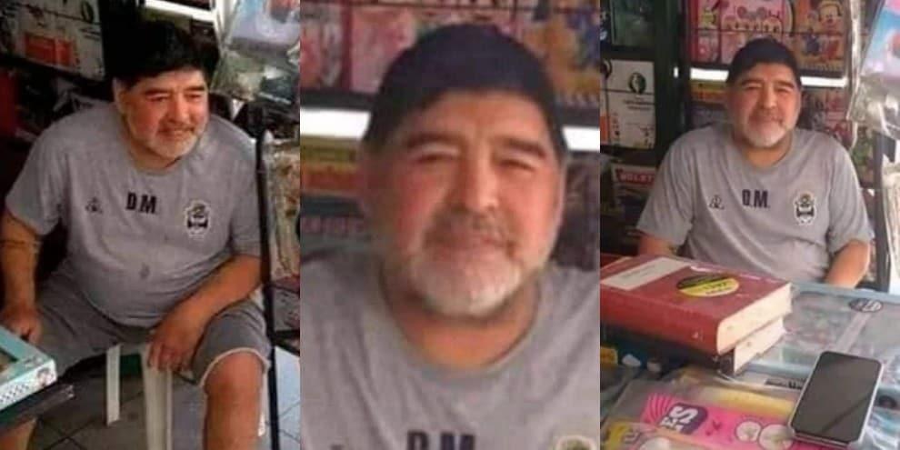 È Maradona o un sosia? Il web si spacca