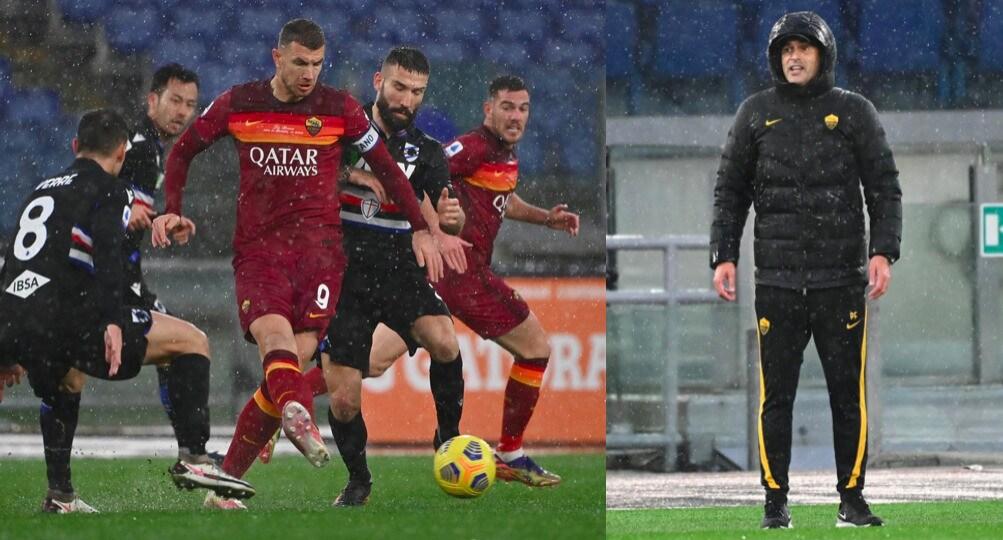 Dzeko, gol decisivo contro la Sampdoria: la Roma vince 1-0