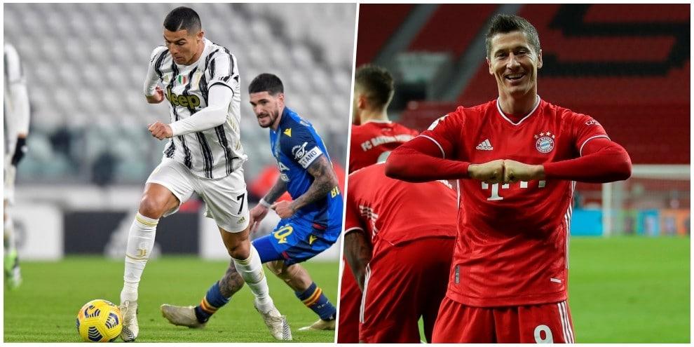La formazione più forte al mondo per L'Equipe: Ronaldo con Lewandowski, che coppia!