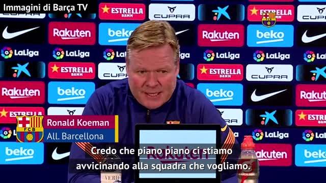 """Koeman sulla rosa del Barça: """"Non ho potuto fare cambiamenti"""""""