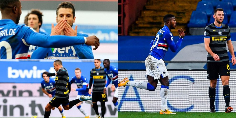 Sanchez tradisce Conte. La Samp batte l'Inter con i gol dell'ex