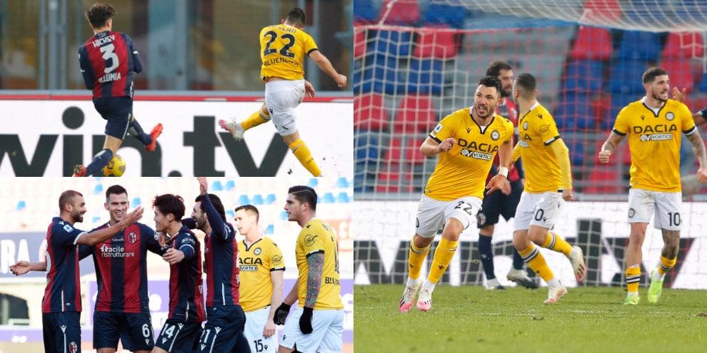 Arslan regala il pari all'Udinese. Bologna ripreso nel finale