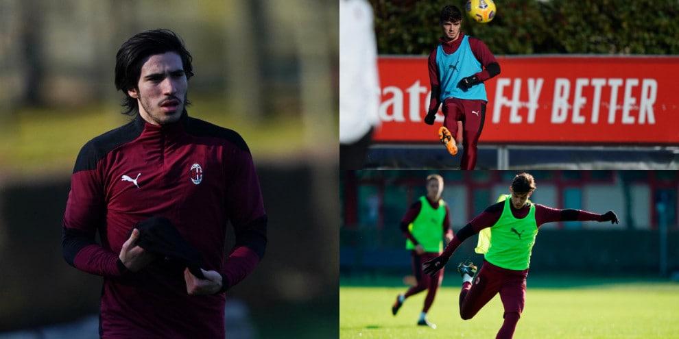 Tonali pronto al rientro in Milan-Torino. Diaz e Maldini scaldano il destro