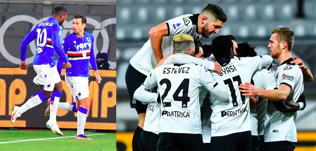 Sampdoria, non basta Candreva: vince lo Spezia 2-1