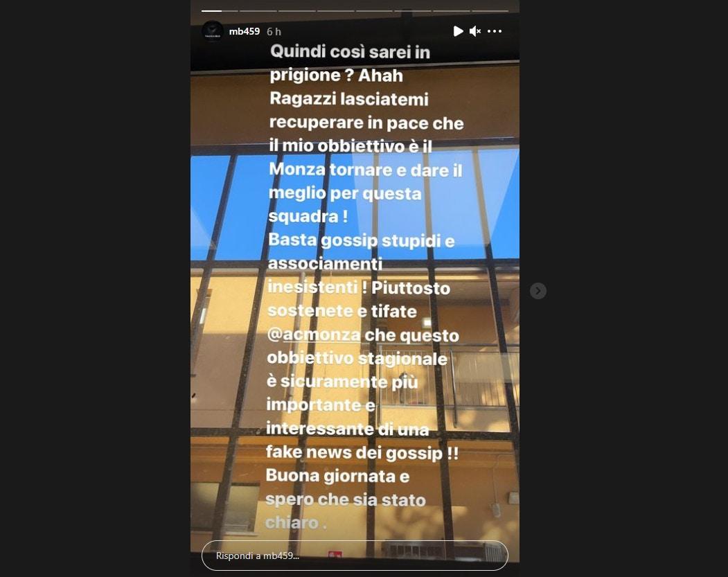 Monza, Mario Balotelli si sfoga su Instagram