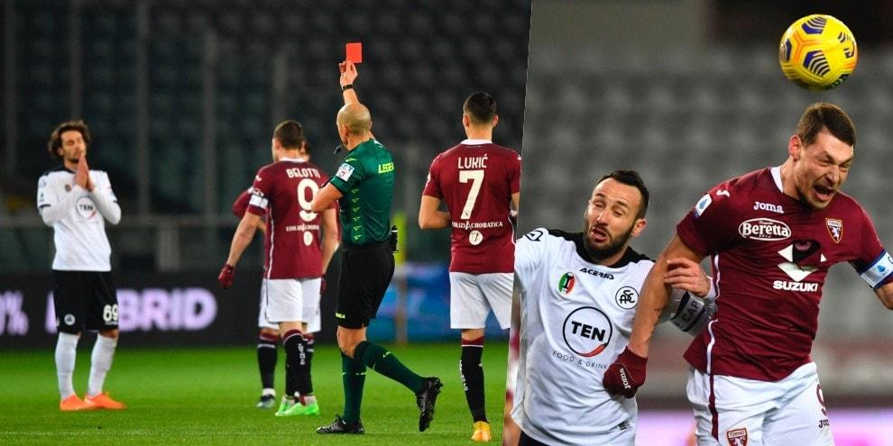 Lo Spezia in 10 dal 7', ma il Torino non sfonda: delusione Giampaolo