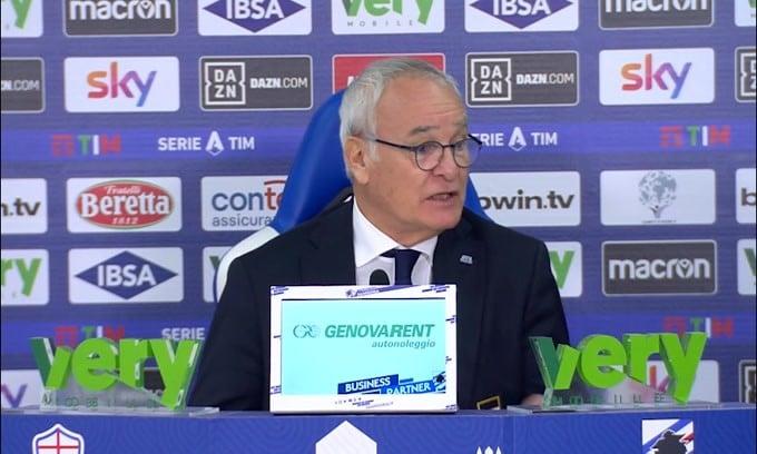 """Ranieri: """"Quagliarella deluso dal cambio? Giusto che lo sia.."""""""