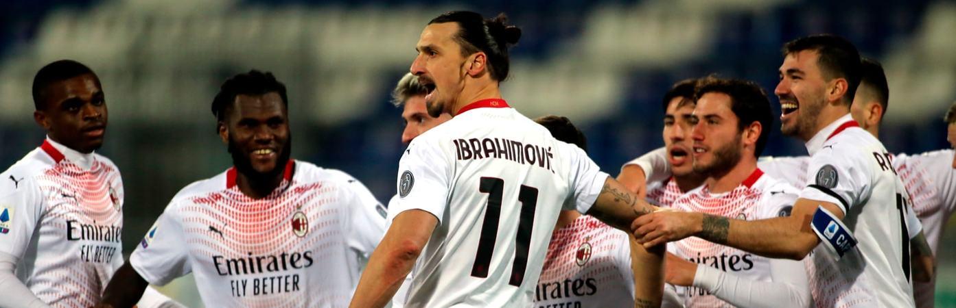 Ibra stende il Cagliari con una doppietta: il Milan allunga sull'Inter