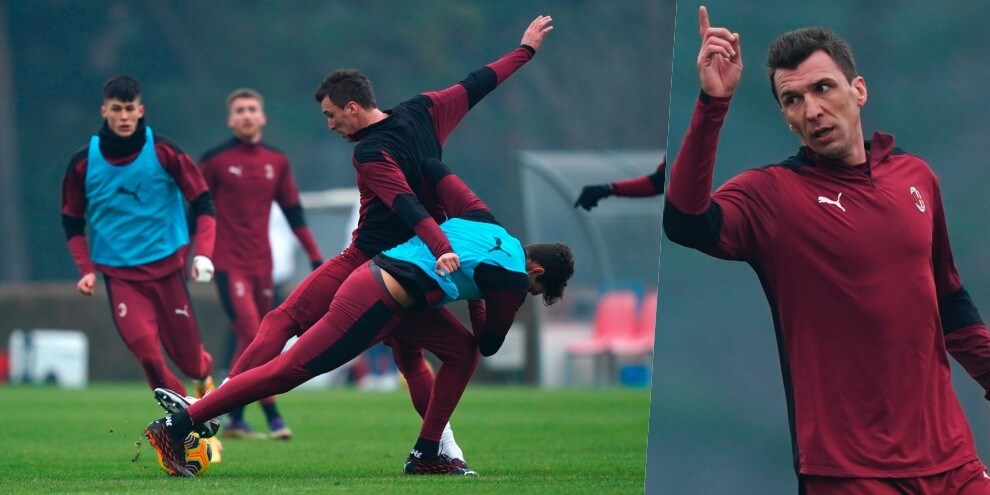Milan, Mandzukic in pieno stile Juve: che grinta in allenamento!