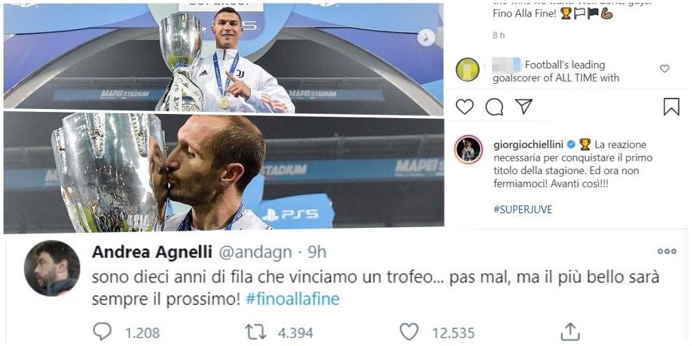 """Juve, la festa social per la Supercoppa. Agnelli: """"10 anni di vittorie"""""""